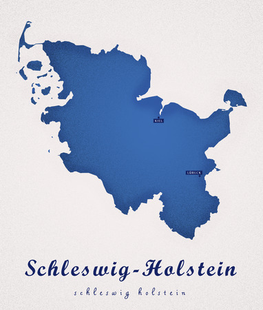 holstein: Schleswig Holstein Germany DE Art Map Stock Photo