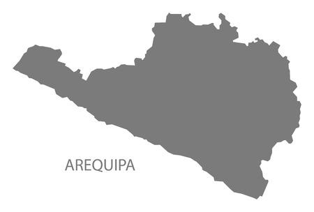 mapa del peru: Arequipa Perú Mapa gris