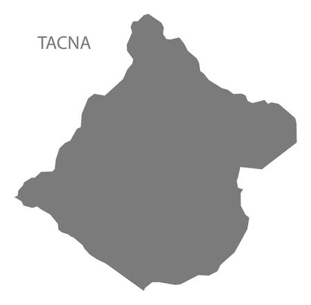 mapa del peru: Tacna Perú Mapa gris Vectores