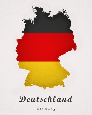 deutschland: Deutschland Germany DE Art Map