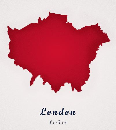 london   england: London England UK Art Map Stock Photo