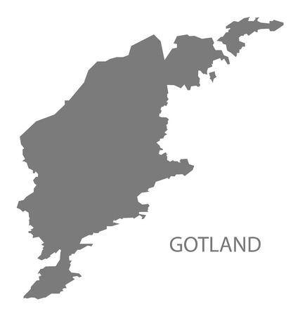 Gotland Sweden Map grey