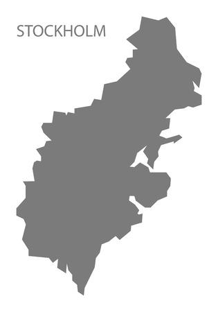Stockholm Sweden Map grey