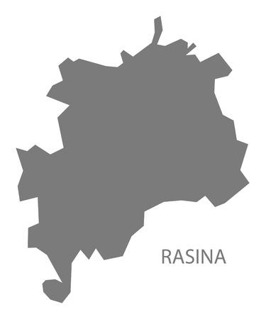 serbia: Rasina Serbia Map grey
