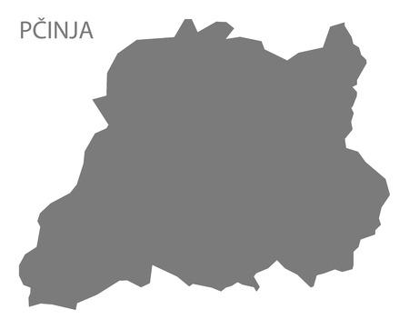 serbia: Pcinja Serbia Map grey