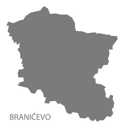 serbia: Branicevo Serbia Map grey