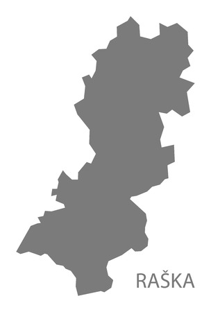 serbia: Raska Serbia Map grey