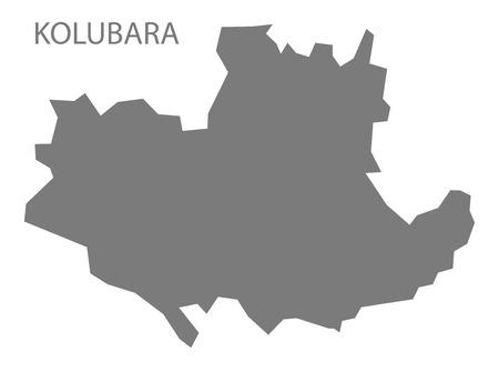 serbia: Kolubara Serbia Map grey