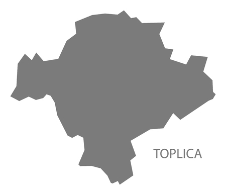 serbia: Toplica Serbia Map grey Illustration