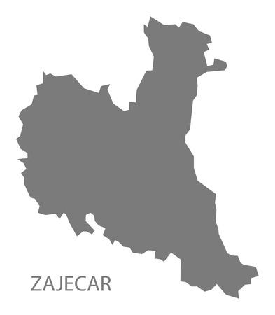 serbia: Zajecar Serbia Map grey Illustration