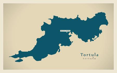virgin islands: Modern Map - Tortula VG