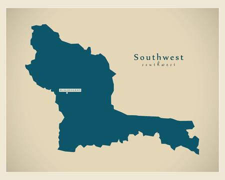 modernity: Modern Map - Southwest BG Illustration