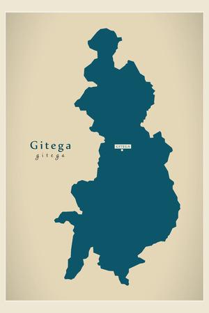 Modern Map - Gitega BI Illustration