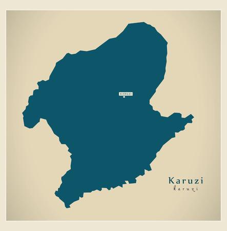 Modern Map - Karuzi BI