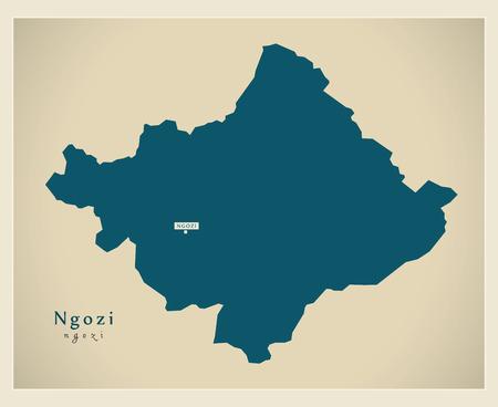 Modern Map - Ngozi BI Illustration