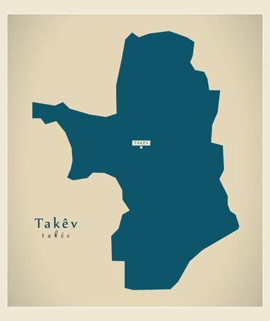 Modern Map - Takev KH