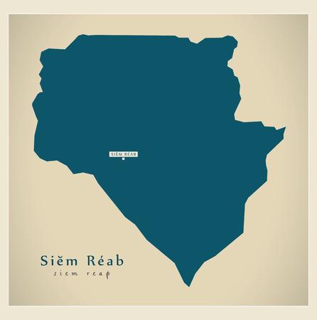siem: Modern Map - Siem Reab KH Illustration