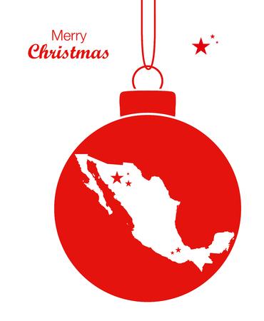 Joyeux Noël Carte Mexique Banque d'images - 66766797