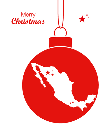 Merry Christmas Map Mexico