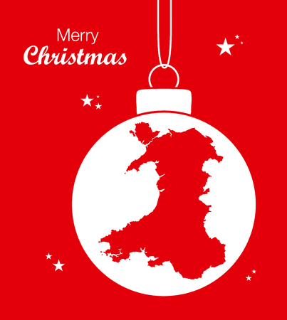 wales: Merry Christmas Map Wales