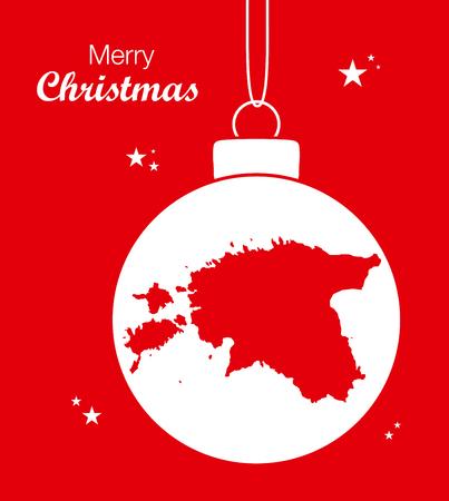 Frohe Weihnachten Karte Estland