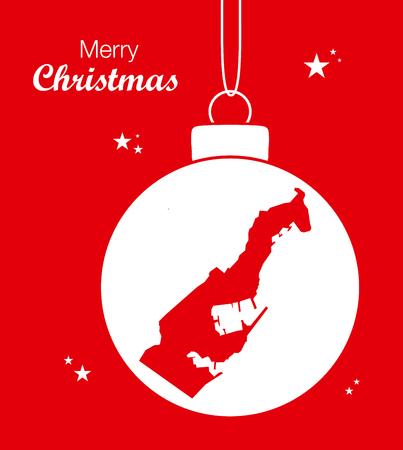 territory: Merry Christmas Map Monaco