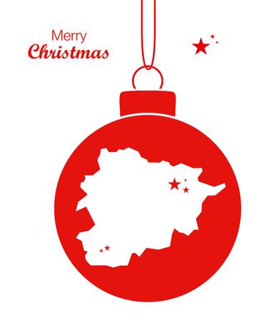 Merry Christmas Map Andorra