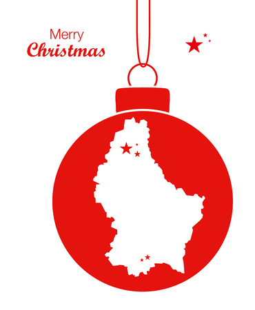 territory: Merry Christmas Map Luxembourg