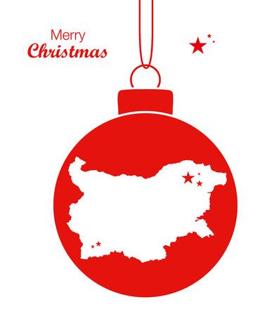 Merry Christmas Map Bulgaria