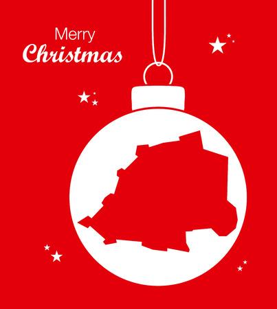 vatican city: Merry Christmas Map Vatican City