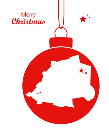 Merry Christmas Map Vatican City