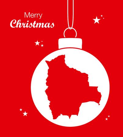 mapa de bolivia: Feliz Navidad Mapa Bolivia