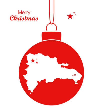 merry christmas map dominican republic stock vector 65555216 - Christmas In Dominican Republic