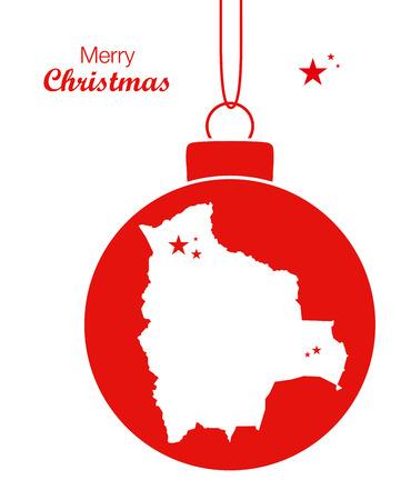 bolivia: Merry Christmas Map Bolivia