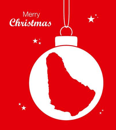 barbados: Merry Christmas Map Barbados