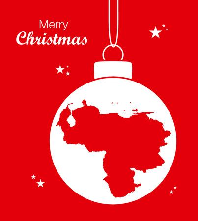 Feliz Navidad Mapa Venezuela Vectores