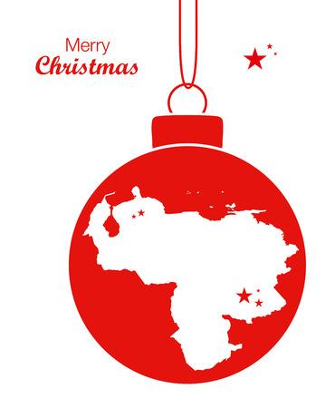 venezuela: Merry Christmas Map Venezuela