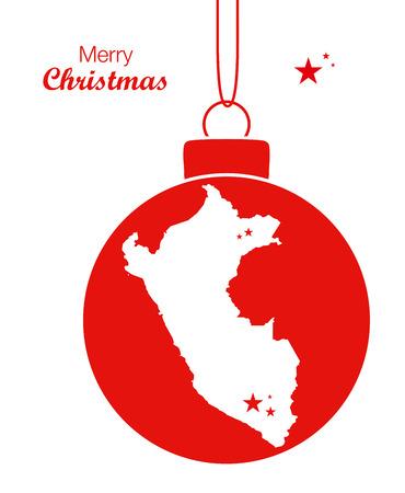 mapa del peru: Feliz Navidad Mapa Perú