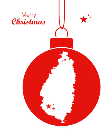 lucia: Merry Christmas Map St. Lucia