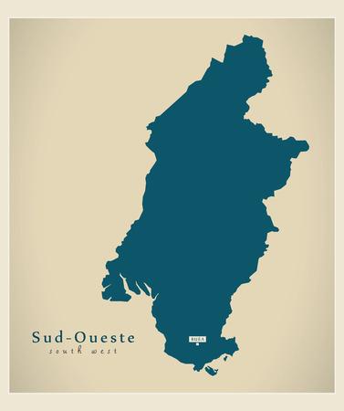 sud: Modern Map - Sud Oueste CM