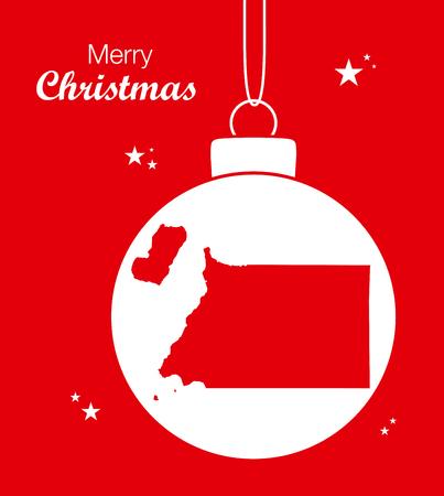 equatorial guinea: Merry Christmas illustration theme with map of Equatorial Guinea Illustration