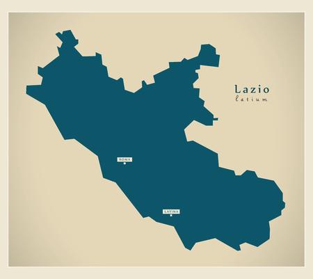 lazio: Modern Map - Lazio IT Italy