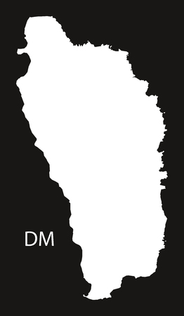 dominica: Dominica Map black country illustration