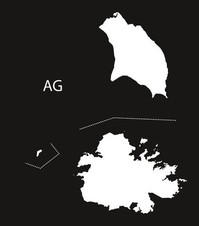 antigua and barbuda: Antigua and Barbuda Map black