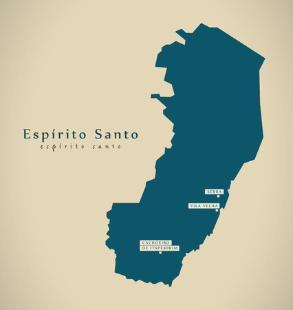 santo: Modern Map - Espirito Santo BR Brazil Illustration