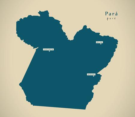 para: Modern Map - Para BR Brazil Illustration