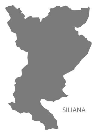 チュニジアの地方行政区画は黒と...