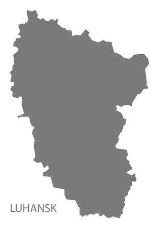 luhansk: Luhansk Ukraine Map grey
