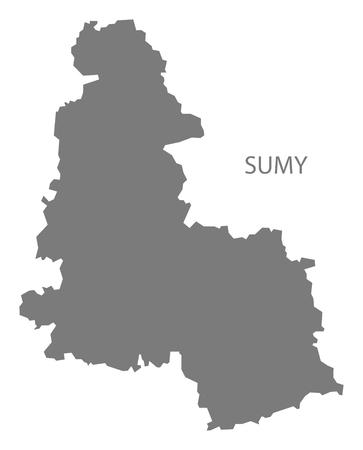 sumy: Sumy Ukraine Map grey