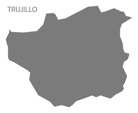 mapa de venezuela: Trujillo Venezuela Map in grey